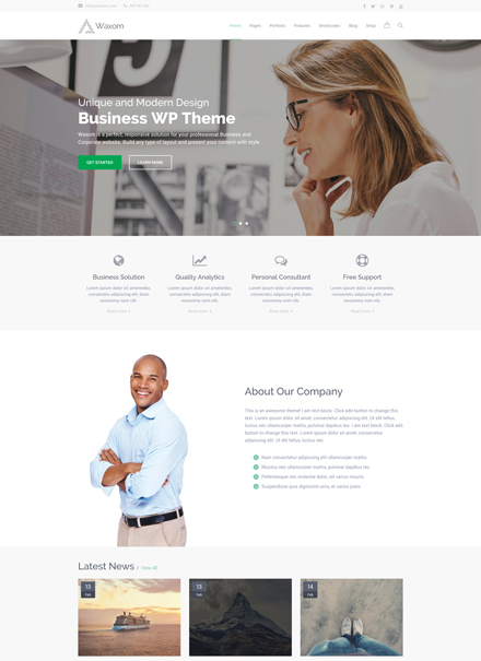 Business White Header